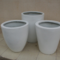 Custom color garden fiberglass square plant pot