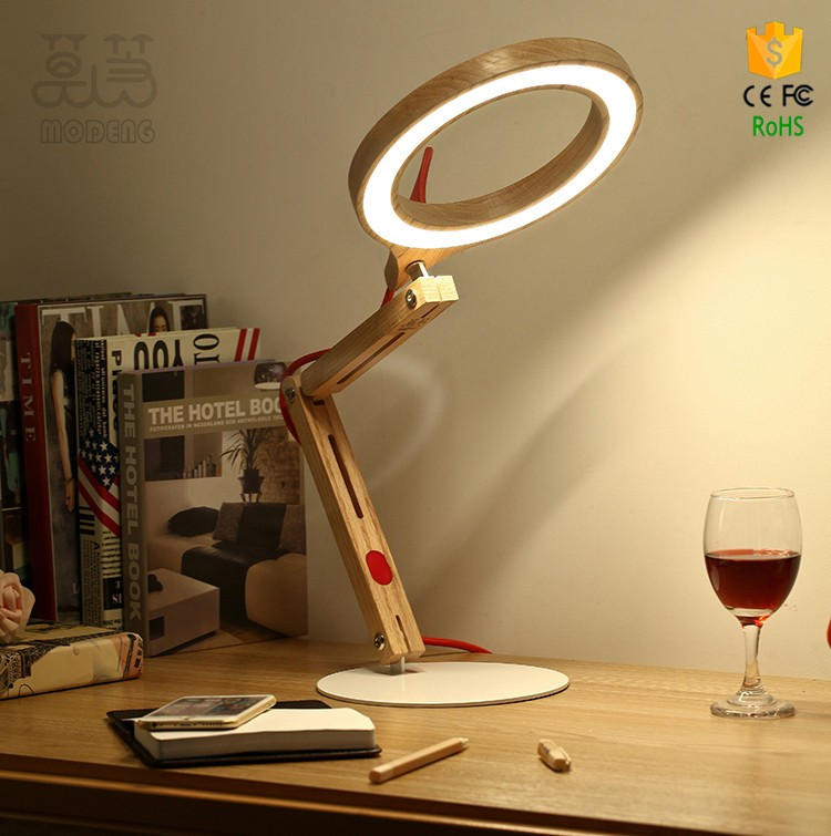 Alibaba recommend 2016 new led wood table lamp 10w dimmer swing arm lamp