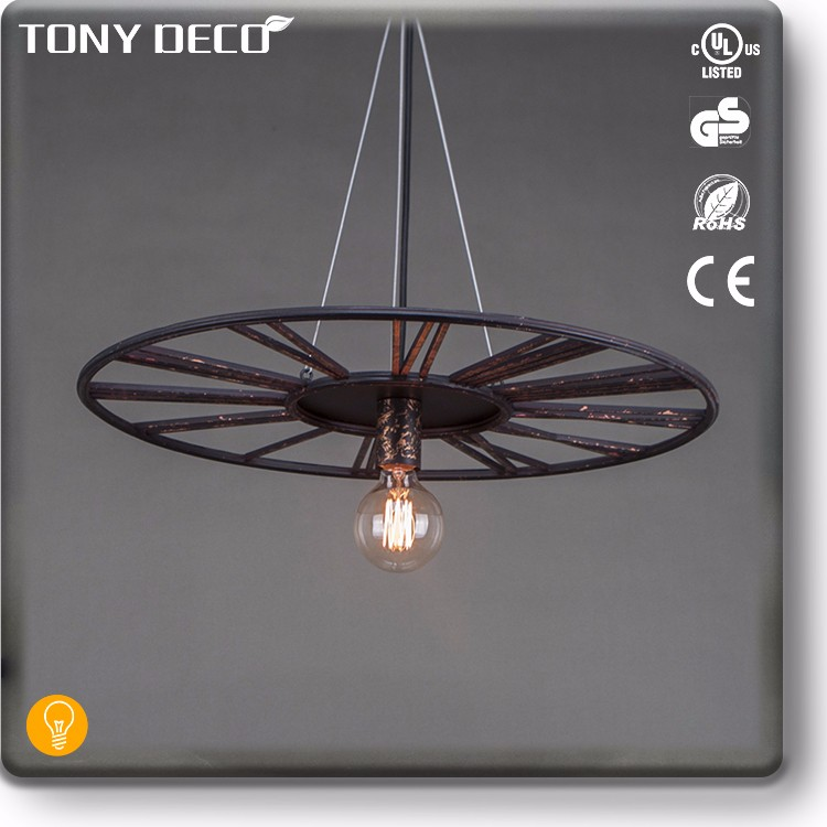 BAA65630 Brown Steel Big Led Decoration Pendant Light For Light