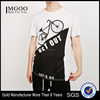MGOO OEM/ODM Streetwears Fashion On Ins Basic White T-shirt With Printing Customized 100% Cotton Clothes For Men