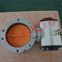 powder butterfly valve with pneumatic actuator