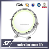 Table Decorative /LED Light / Iron / Magnifying / Chromeplate Makeup Mirror