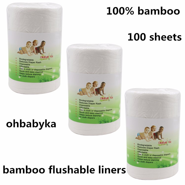 Ohbabyka 100% biodegradable bamboo disposable diaper