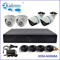 H.264 4CH CCTV 2.0MP AHD HD-AHD Camera Kit 1080P DVR Kit