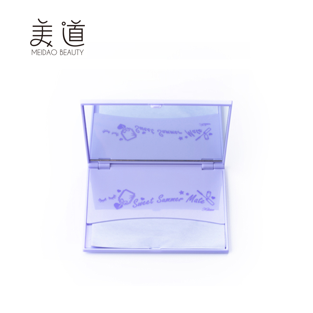 High quality elegant color new design girl's makeup oil blotting paper