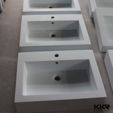 White solid surface hand wash sinks for school bathrooms