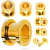The noble gold plated screw ear plug titanium anodized thread plug tunnel bling ear plug