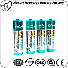 cheap 1.5v UM3 R6P AA size Aluminium Foil Jacket dry battery