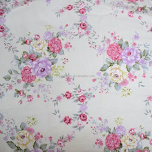 New arrive factory directly sale colorful rose print poplin fabric, custom printed cotton fabric for children cloth