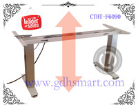 Cairo good quality height adjustable desk with wooden top executive desk stainless steel table