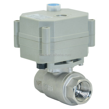 Pow off return 2 way3/4'' DN15 DC9-24V  ss304 electric actuator ball valve with manual override