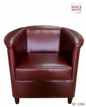 Leather single sofa for hotel and cafe