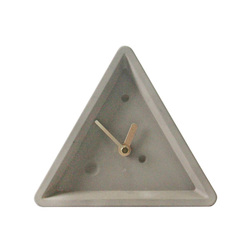 1688 or 12888 clockworks cement decorative table clock triangle beton wall mounted clock