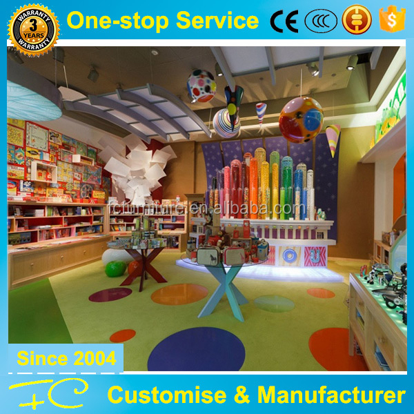 Childish colorful kids store display furniture and shop decoration design idea