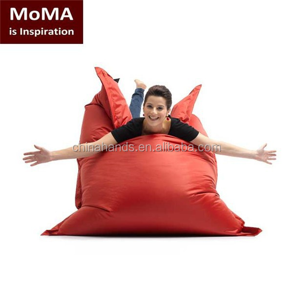 Soft Comfort Red Sitting Bean Bag Chair