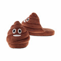 China customize plush poop wholesale emoji slippers for women