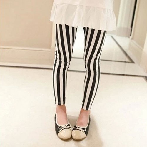TAY12051 children leggings korean spring fashion striped kids legging