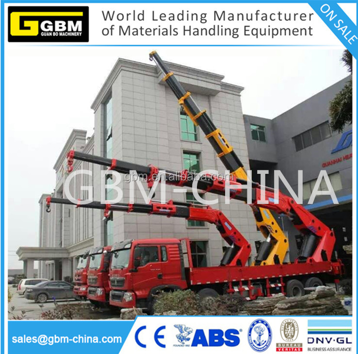 hydraulic/electric telescopic knuckle boom crane used for truck