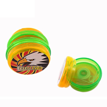 Promotional plastic toy printed logo cheap <strong>yoyo</strong> wholesale for can be loaded candy inside