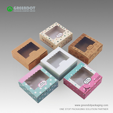 Small branded cardboard PVC window box disposable handmade soap packaging box