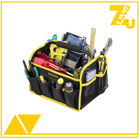 Hot sales polyester carpenter tool bag with steel handle