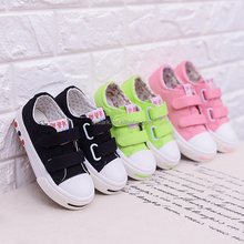 Factory direct sale sweet kids cloth shoe Fashion latest girls canvas shoes
