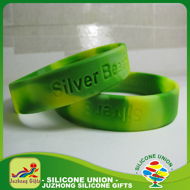 Colorful promotional gifts,swirl debossed silicone bracelet, silicone wristband