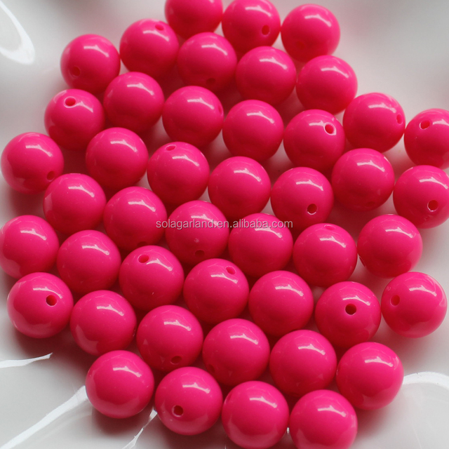 China Factory 20mm Large Smooth Round Opaque Acrylic Plastic Beads Kid Fashion Jewelry Making