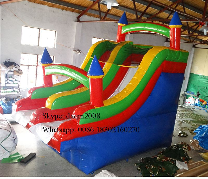 2016 Best quality Commercial Inflatable Dry Slide PVC Lane Slip For Play Centre for sale