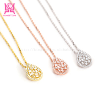 Crystal key necklace 925 sterling silver jewelry wholesale