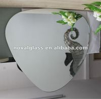 3mm clear heart shape wall mirror