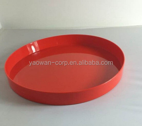 colorful round bar serving hot sale beer tray