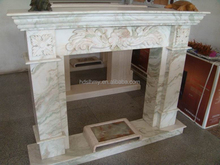 Indoor used decorative fireplace mantel type the marble fireplace with angel and flowers sculpture white marble fireplace kit