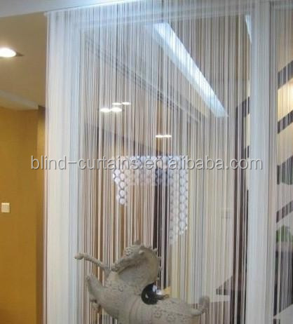 100% polyester single color string curtain