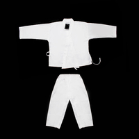 white polycotton training karate uniforms for kids
