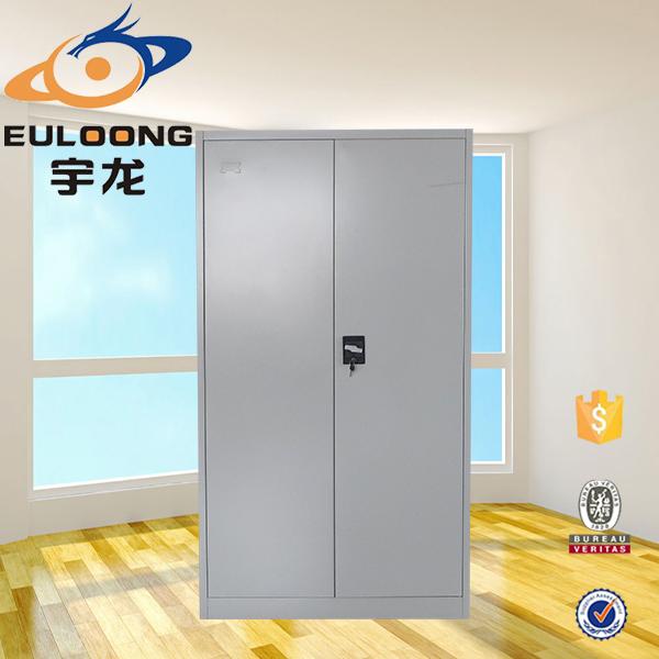 barato muebles modulares 2 swing puerta de acero armario