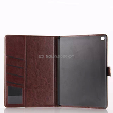 Fashion Unisex denim fabric/jeans wallet leather flip case cover for ipad air 2 china wholesale