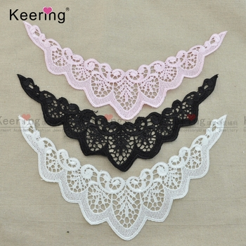 Stock sleeve lace motif angel wings lace collar for kids and baby and women WLSA-099