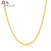 24K Gold Snake Chain Necklace Jewelry Women Fashion Accessories Copper Main Material European Style Factory Cheap Price XL308