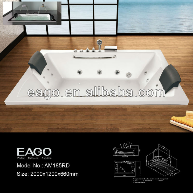AM185 Series Whirpool Jacuzi with bathtub control panel