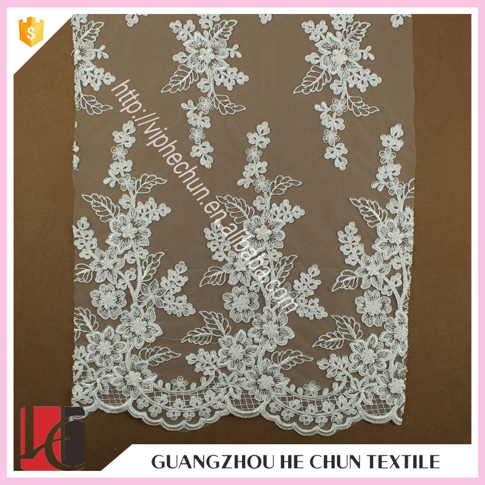 HC-9669-1 Hechun Lace trim Decorative Luxury Guipure Lace Fabric