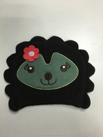 High Quality Custom cute animal acrylic knitted winter hat beanie for baby and kid