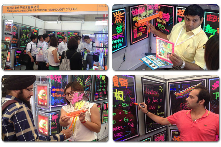 2015 Hot Selling LED Writing Menu Board 90 Flashing Modes Magic LED Writing Menu Board Aluminum Alloy Frame Hot Magic LED Board