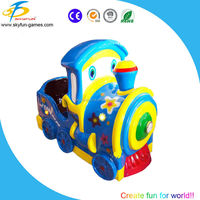 Hot new arcade game machine kiddie amusement rides mini blue train