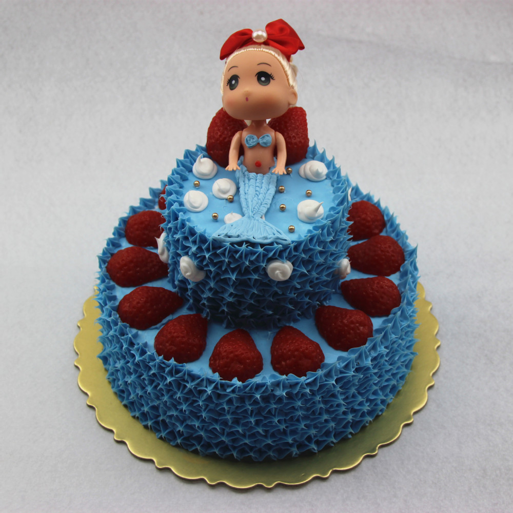2015 Hot sale nice plastic birthday cake model for home decoration