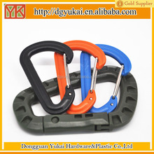 Yukai 56mm plastic spring wiregate carabiner hook in various colors
