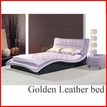 exclusive purple leather solid wood bunk beds B2821#