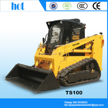 China bobcat dingo TS100 gasoline mini crawler skid loader price for sale/mini wheel loader/skid loader