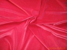 100%polyester red span velvet with shining