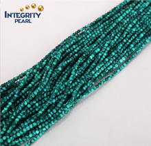 Wholesale loose peacock stone strands 2mm 3mm natural round green malachite